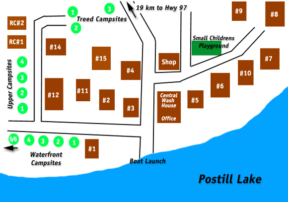 Postill Lake Lodge Resort Map